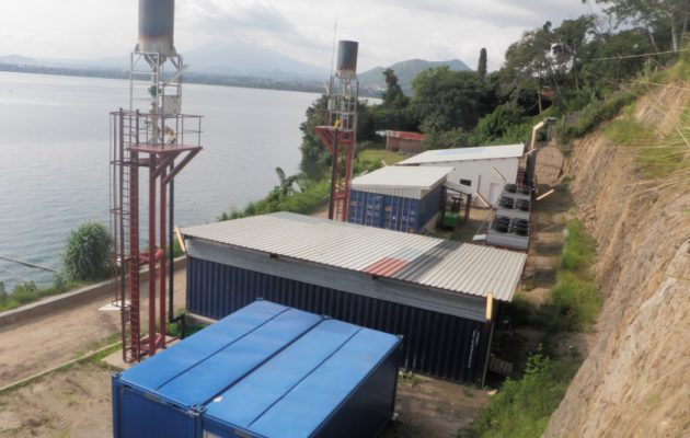Rwanda Gisenyi - Centrale électrique gaz bio-méthane
